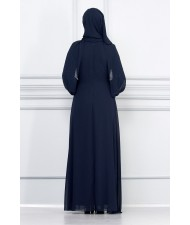 Hijab Evening Dress Navy blue